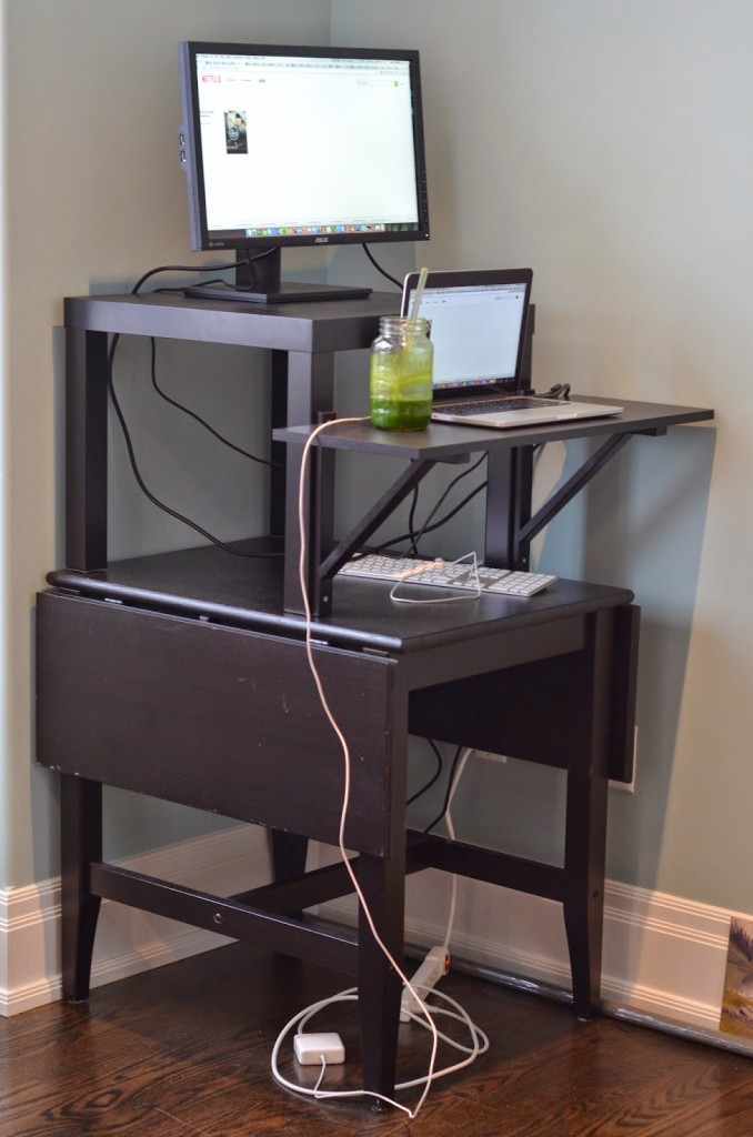 How to build your own cheap easy diy standing desk i for How to build your own bar cheap